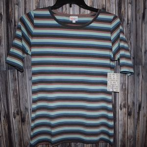 Striped Womens Gigi Fitted Lularoe Shirt Top New L